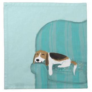 Happy Couch Dog - Cute Beagle Cloth Napkin