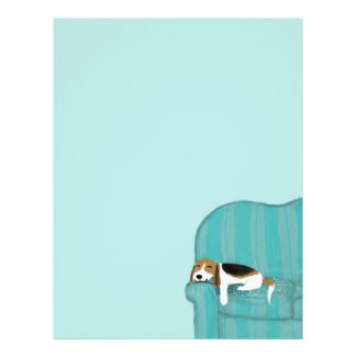 Happy Couch Dog - Cute Beagle Flyers