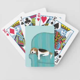 Happy Couch Dog - Cute Sleepy Beagle Bicycle Playing Cards