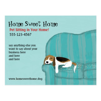 Happy Couch Dog Postcard