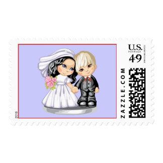 Happy Couple Postage Stamp
