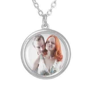 Happy Couple Round Pendant Necklace