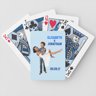 Happy Couple: White Dress and Denim (Personalized) Deck Of Cards