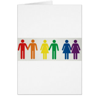 Happy couples greeting card