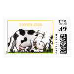 Happy Cow and Daisies Stamp