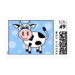 Happy Cow Blue Dots Postage Stamp
