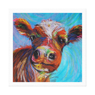 Happy Cow Canvas Print