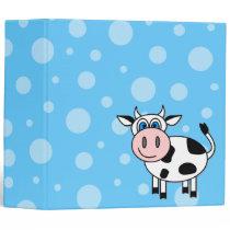 Happy Cow Cartoon Bubble Scrapbook / School Binder