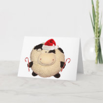 Happy Cow Christmas Card I Love You Greeting