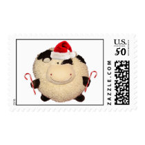 Happy Cow Christmas Stamp