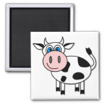 Happy Cow - Customizable! 2 Inch Square Magnet