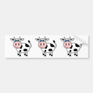 Happy Cow - Customizable! Bumper Stickers