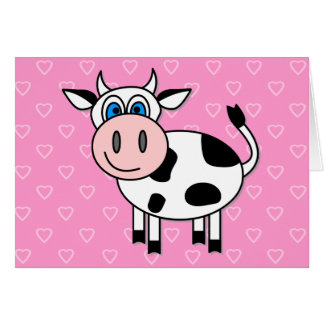 Happy Cow - Customizable Greeting Cards