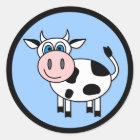 Happy Cow - Customizable! Classic Round Sticker