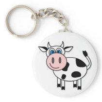 Happy Cow - Customizable! Keychain