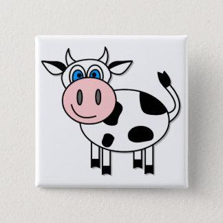 Happy Cow - Customizable! Pinback Button