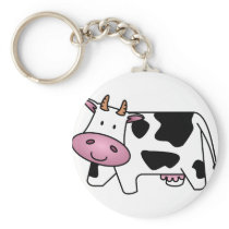 Happy Cow Keychain