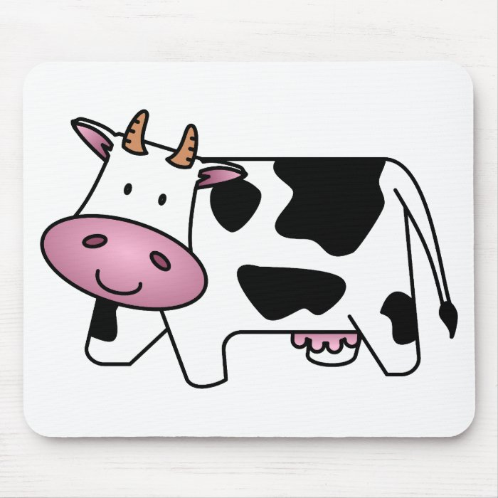 happy cow mouse pad zazzle. Black Bedroom Furniture Sets. Home Design Ideas