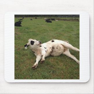 happy cow organic farm mouse pad