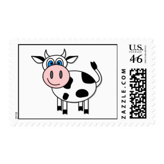 Happy Cow Postage Stamp