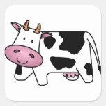 Happy Cow Square Stickers