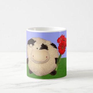 Happy Cow Valentines Day Classic White Coffee Mug