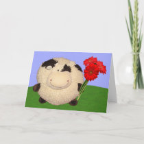 Happy Cow Valentines Day Holiday Card