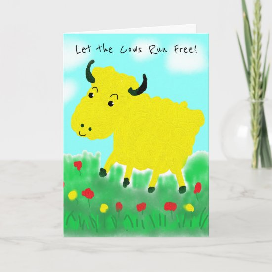 Happy Cow Vegan Birthday Card