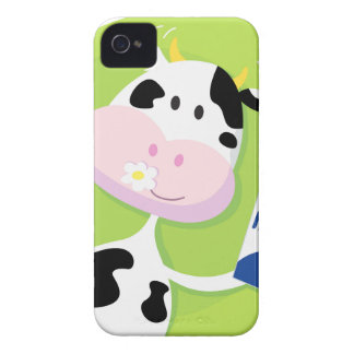 Happy cow with Milk iPhone 4 Cover