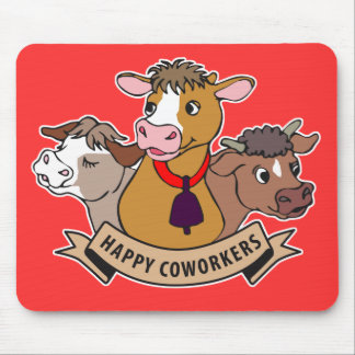 Happy Coworkers Mouse Pad
