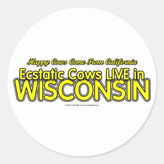 Happy Cows Classic Round Sticker