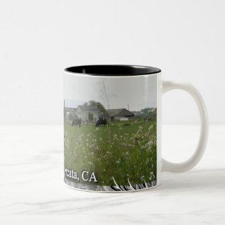 Happy Cows in Arcata, CA Two-Tone Coffee Mug