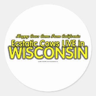 Happy Cows Round Sticker