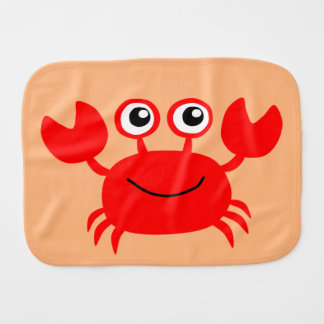 Happy Crab custom burp cloth