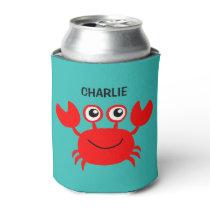 Happy Crab custom can cooler