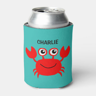 Happy Crab custom can cooler