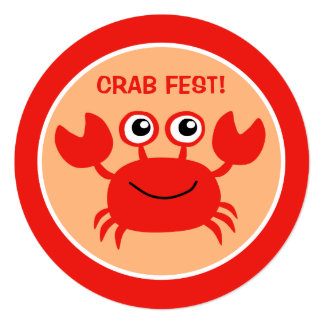 Happy Crab custom Cookout invitations
