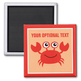 Happy Crab custom magnet