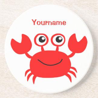 Happy Crab custom monogram coaster