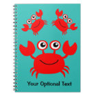 Happy Crab custom notebook