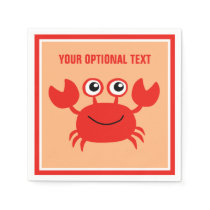 Happy Crab custom paper napkins