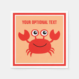Happy Crab custom paper napkins