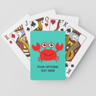 Happy Crab custom playing cards