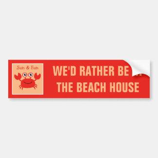 Happy Crab custom text bumpersticker Bumper Sticker