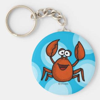 happy crab keychain