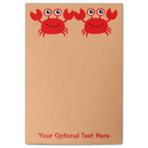 Happy Crab Post-It notes