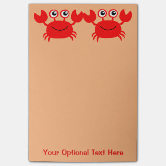 Happy Crab Post-It notes