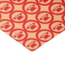 Happy Crab tissue paper