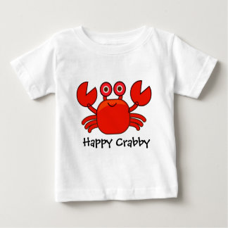 Happy Crabby/Cute Red Cartoon Crab Design Baby T-Shirt
