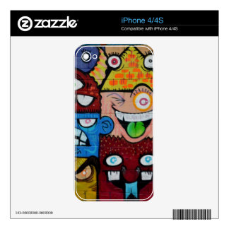 Happy Crazy Faces Skins For iPhone 4S
